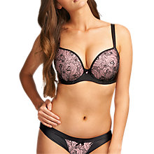 Buy Freya Deco Darling Underwired Moulded Plunge Bra, Noir Online at johnlewis.com