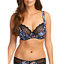 Buy Freya Pansy Plunge Balcony Bra, Midnight Online at johnlewis.com