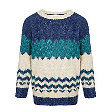 Buy John Lewis Boy Fairisle Turtleneck Jumper, Blue Online at johnlewis.com