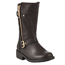 Buy John Lewis Childrens' Tina Quilted Boots, Black Online at johnlewis.com