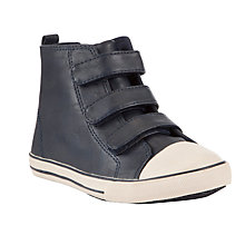 Buy John Lewis Boy Zack Hi-Top  Canvas Trainers, Navy Online at johnlewis.com
