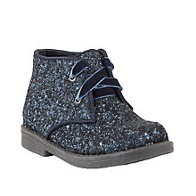 Buy John Lewis Childrens' Rebecca Glitter Desert Boots, Navy Online at johnlewis.com