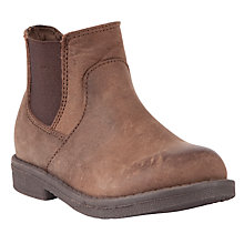 Buy John Lewis Childrens' Danny Burnished Chelsea Boots, Brown Online at johnlewis.com