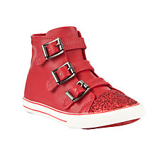Buy John Lewis Girl Brittany Tripple Buckle Hi-Top Trainers Online at johnlewis.com