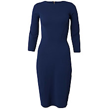 Buy Closet Diamond Ponti Panel Dress, Blue Online at johnlewis.com
