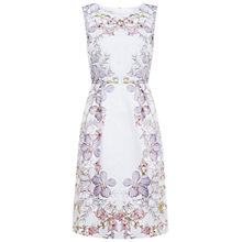 Buy Hobbs Invitation Botanical Dress, Ivory Gold Online at johnlewis.com