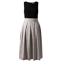 Buy Closet Jacquard Dress, Pale Grey Online at johnlewis.com