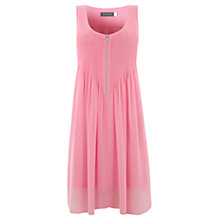 Buy Mint Velvet Cindy Zip Pintuck Dress, Pink Online at johnlewis.com
