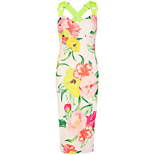 Buy Ted Baker Taylar Flower Print Dress, Cream Online at johnlewis.com