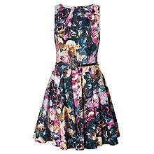 Buy Closet Printed Flared Dress, Multi Online at johnlewis.com