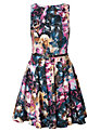 Closet Printed Flared Dress, Multi