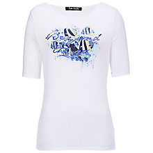 Buy Betty Barclay Fish Print T-Shirt, White Online at johnlewis.com