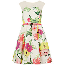 Buy Ted Baker Iberis Flower Print Dress, Cream Online at johnlewis.com