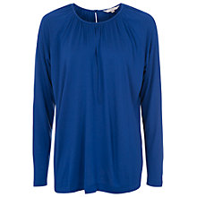 Buy French Connection Misha Jersey Top, Blue Online at johnlewis.com