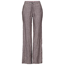 Buy Betty Barclay Drawstring Waist Linen Trousers, Coffee Online at johnlewis.com