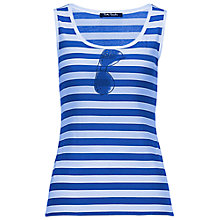 Buy Betty Barclay Stripe Spectacle Vest, White/Classic Blue Online at johnlewis.com