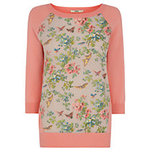 Buy Oasis Butterfly Blossom Top, Coral Online at johnlewis.com