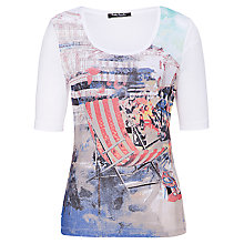 Buy Betty Barclay Beach Print T-Shirt, Classic Blue Online at johnlewis.com