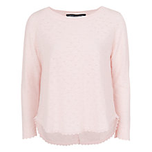 Buy French Connection Amelia Scoop Jumper, Pink Online at johnlewis.com