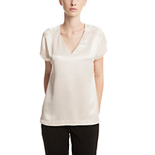 Buy Gérard Darel V-Neck Blouse, Vanilla Online at johnlewis.com