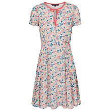 Buy French Connection Marylin Tie Neck Dress, Party Pink/Multi Online at johnlewis.com