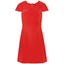 Buy Ted Baker Tuluua Lace Embroidered Dress, Dark Orange Online at johnlewis.com