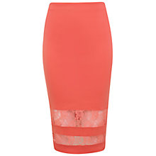 Buy Miss Selfridge Lace Insert Skirt Online at johnlewis.com
