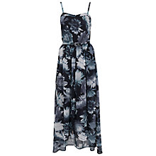 Buy French Connection Lily Collage Midi Dress, Black Online at johnlewis.com