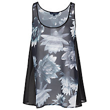 Buy French Connection Lily Collage Vest Top, Black Online at johnlewis.com