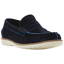 Buy Dune Bellow Suede Loafers, Navy Online at johnlewis.com