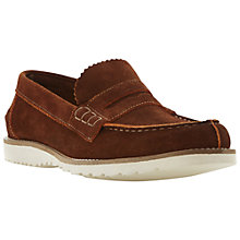 Buy Dune Bellow Suede Penny Loafers, Tan Online at johnlewis.com