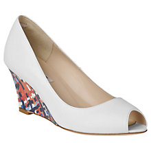 Buy L.K. Bennett Leather Open Toe Wedge Heels Online at johnlewis.com