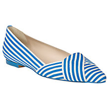 Buy L.K. Bennett Dale Leather Flat Pumps Online at johnlewis.com