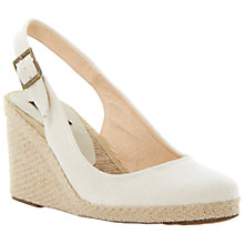 Buy Dune Black Imperia D Fabric Slingback Wedge Espadrilles Online at johnlewis.com
