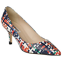 Buy L.K. Bennett Irani Leather Bow Trim Flat Pumps, Gold Online at johnlewis.com