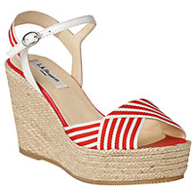 Buy L.K. Bennett Connie Leather Wedge Heeled Espadrilles Online at johnlewis.com