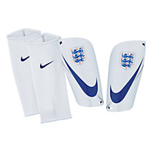Buy Nike Adult England Mercurial Lite Shin Pads, White/Blue Online at johnlewis.com