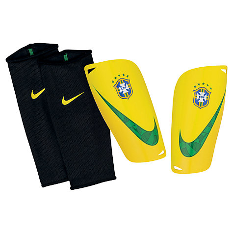 Buy Nike Adult Brazil Mercurial Lite Shin Pads, Yellow/Green Online at johnlewis.com