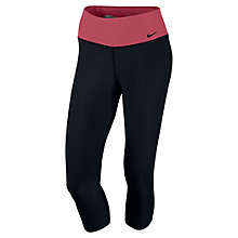 Buy Nike Legend Training Capri Trousers, Black Online at johnlewis.com