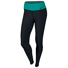 Buy Nike Legend 2.0 Poly Tights, Black/Turbo Green Online at johnlewis.com