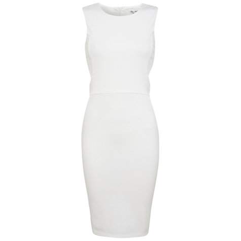 Buy Miss Selfridge Cut Out Bodycon Dress, White Online at johnlewis.com