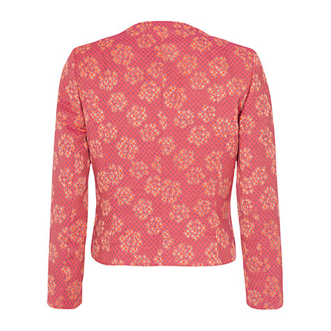 Buy French Connection Fantasy Jacquard Jacket, Bright Pink Online at johnlewis.com