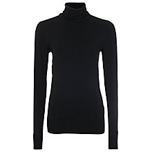 Buy French Connection Santana Stretch Polo, Black Online at johnlewis.com