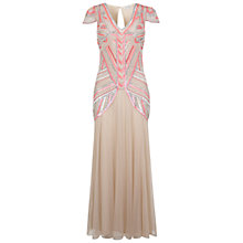 Buy Miss Selfridge Embellished Maxi Dress, Nude Online at johnlewis.com