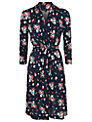 French Connection Blossom Print Dress, Navy/Multi