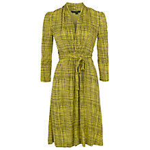 Buy French Connection Textured Check Dress, Sulphur/Black Online at johnlewis.com