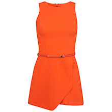 Buy Miss Selfridge Crepe Skort Playsuit, Orange Online at johnlewis.com