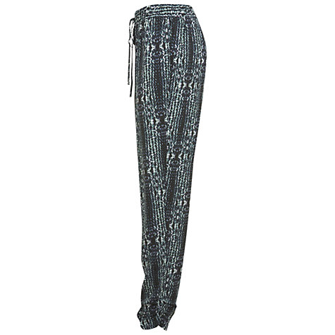 Buy Miss Selfridge Tyre Print Trousers, Dark Green Online at johnlewis.com