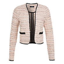 Buy Miss Selfridge Boucle Jacket, Coral Online at johnlewis.com