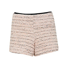 Buy Miss Selfridge Boucle Shorts, Coral Online at johnlewis.com